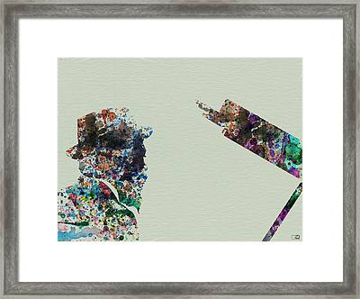 Thelonious Monk Framed Print by Naxart Studio