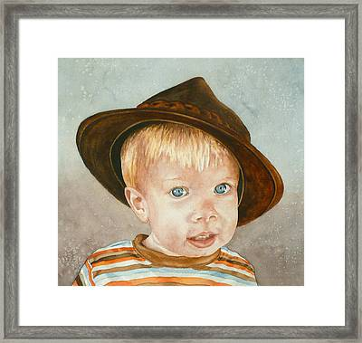 Theo Framed Print by Anne Gifford