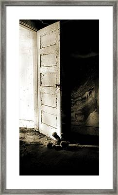 There's Something In My Room... Framed Print by Nyla Alisia
