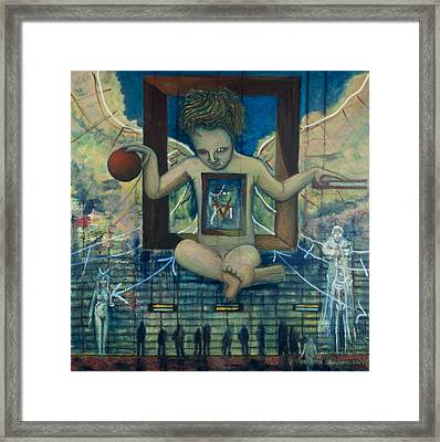 Therion The Beast The Appearance Of Dali S Anti-christ Child Framed Print by Jonathan E Raddatz