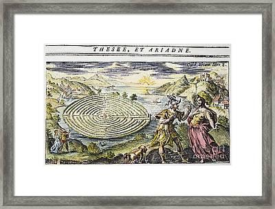 Theseus & Ariadne Framed Print by Granger