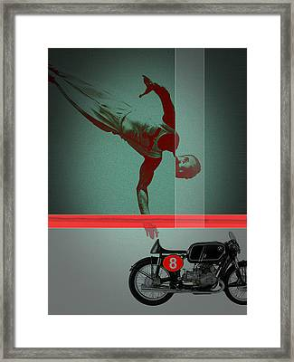 They Crossed That Line Framed Print by Naxart Studio