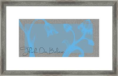 Think Blue Framed Print by Dana Vogel