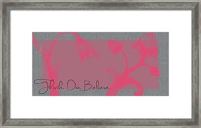 Think Pink Framed Print by Dana Vogel