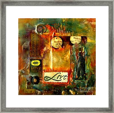 Thinking Of You With Love Framed Print by Angela L Walker