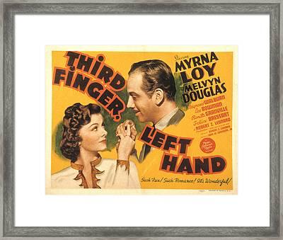Third Finger, Left Hand, Myrna Loy Framed Print by Everett