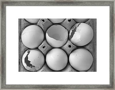 This Case Is Cracked Framed Print by Betsy Knapp