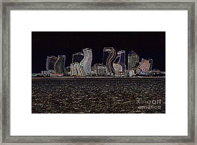 This City Is Rockin' Framed Print by Carol Groenen