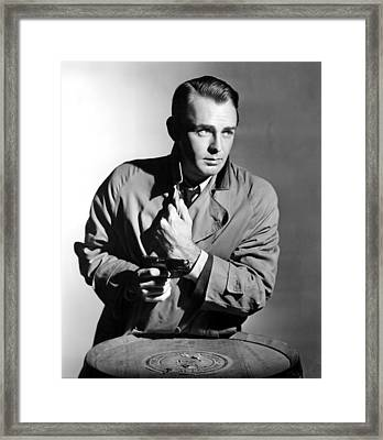 This Gun For Hire, Alan Ladd, 1942 Framed Print by Everett