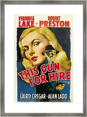 This Gun For Hire, Veronica Lake, Alan Framed Print by Everett