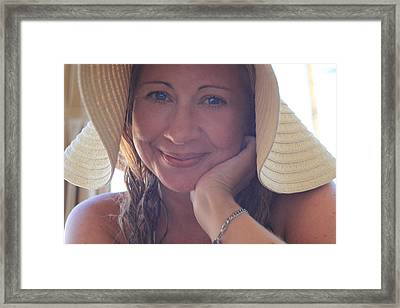 This Smile Was For You Framed Print by Laurie Search