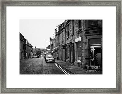 Thistle Street Rows Of Granite Houses And Shops Aberdeen Scotland Uk Framed Print by Joe Fox