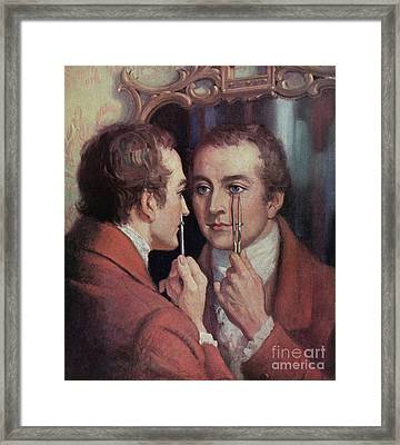 Thomas Young, English Polymath Framed Print by Science Source