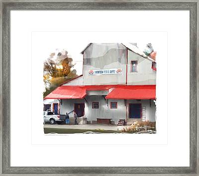 thompson supply and feed Ripley Ont. Framed Print by Bob Salo