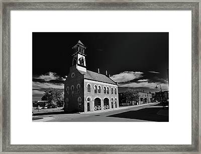 Thorold's Old Fire Hall Framed Print by Guy Whiteley
