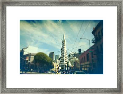Those Sunny Downtown Days Framed Print by Laurie Search