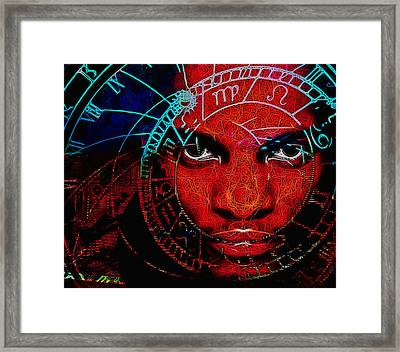 Thoughts Of Astronomy Framed Print by Devalyn Marshall