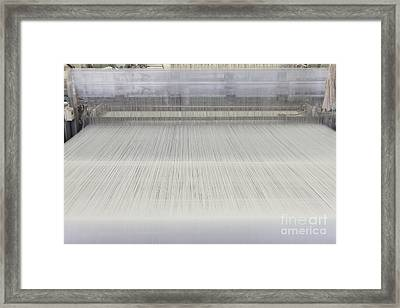 Threads In An Industrial Loom Framed Print by Magomed Magomedagaev