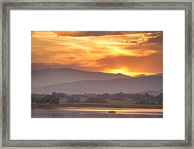 Three Belly Boats Enjoying The View Framed Print by James BO  Insogna