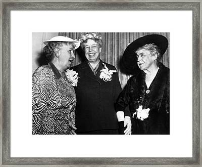 Three Former First Ladies, L-r Bess Framed Print by Everett