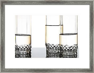 Three Luxury Glasses Framed Print by Dmitry Malyshev