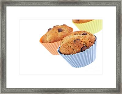 Three Muffins Framed Print by Jane Rix