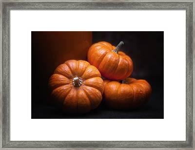 Three Pumpkins Framed Print by Tom Mc Nemar