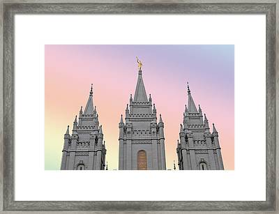 Three Tower Salt Lake City Framed Print by Maria isabel Villamonte