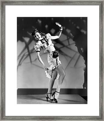 Thrill Of Brazil, Ann Miller, 1946 Framed Print by Everett