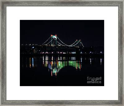 Throggs Neck Bridge Framed Print by Dale   Ford
