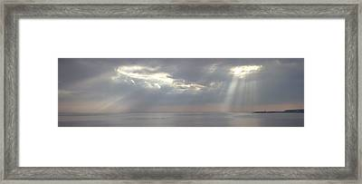 Through The Clouds Framed Print by Alexander Fedorov
