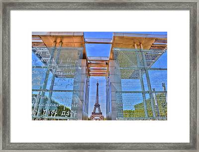 Through The Glass Framed Print by Barry R Jones Jr