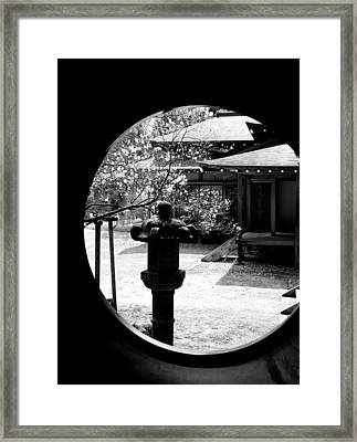 Through The Window Of Time Framed Print by Sebastian Musial