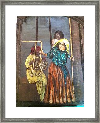 Throw Mama From The Train Framed Print by Cena Rasmussen