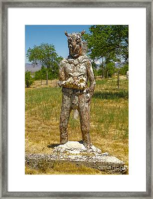 Thunder Mountain Indian Monument - Demon Framed Print by Gregory Dyer
