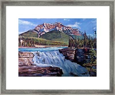 Thundering River Framed Print by David Lloyd Glover