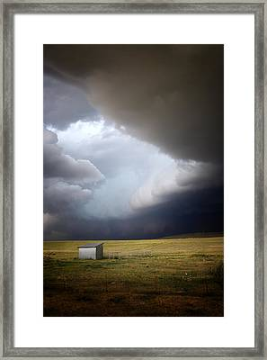 Thunderstorm Over The Plains Framed Print by Ellen Heaverlo