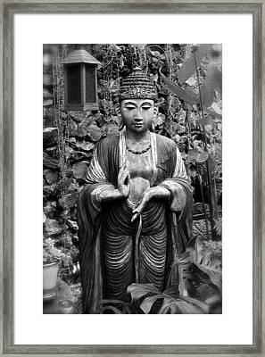 Tibetan Buddha Framed Print by Karon Melillo DeVega