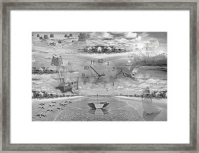 Tidal Pools Framed Print by Betsy C Knapp