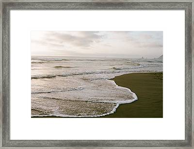 Tide Framed Print by Ariane Moshayedi