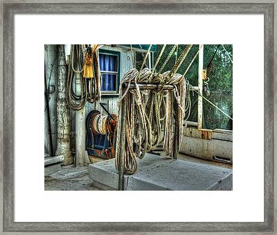 Tied Up Lines Framed Print by Michael Thomas