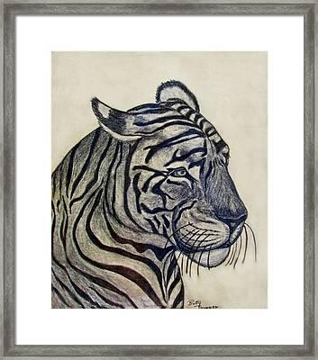 Tiger I Framed Print by Debbie Portwood