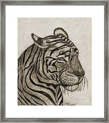 Tiger Iv Framed Print by Debbie Portwood