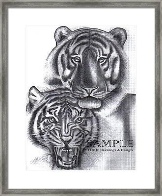 Tigers Framed Print by Rick Hill