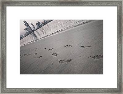 Tilted City Framed Print by Ghassan Ayan