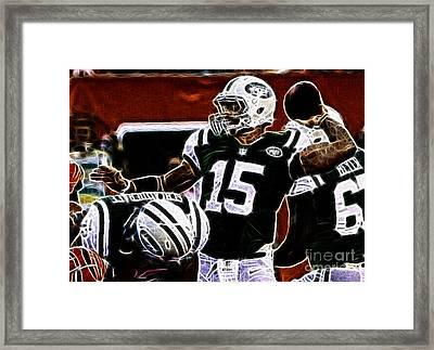 Tim Tebow  -  Ny Jets Quarterback Framed Print by Paul Ward