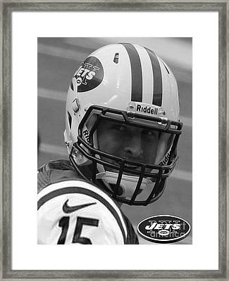Tim Tebow - Black And White - New York Jets Florida Gators - Timothy Richard Tebow Framed Print by Lee Dos Santos
