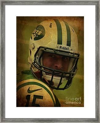 Tim Tebow - New York Jets - Timothy Richard Tebow Framed Print by Lee Dos Santos