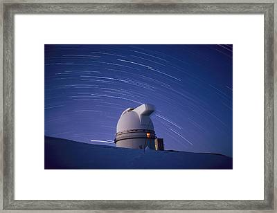 Time-exposure Of The Mauna Kea Framed Print by Robert Madden