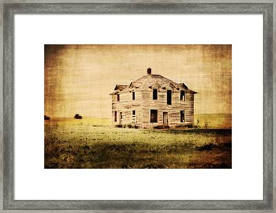 Time Forgotten Framed Print by Julie Hamilton